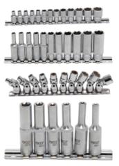 Socket assortments 1/4'' (6,3 mm)