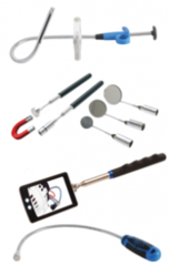 Magnetic lifters, pick-up tools & mirrors