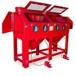 Sandblasting cabin 880 litres double workstation