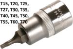 Socket wrench bit 12.5 mm (1/2) T profile (for Torx)