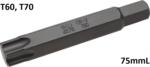 Bit length 75mmL 14 mm external hexagonal T profile (for Torx)