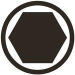 Bit 8mm (5/16) Drive internal Hexagon