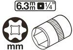 Socket, E-Type (1/4) drive E4-E11