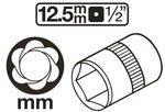 Special Socket / Screw Extractor (1/2) Drive 8-41mm