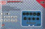 10-piece Special Twist Socket Set, 10-19 mm, 3/8