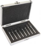 Carbide burr set 8 pcs chip breaker