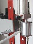 Atelierpers 20t manueel/pneumatisch beweegbare cilinder
