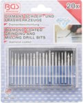 Diamond-Coated Grinding and Milling Drill Bit Set 20 pcs