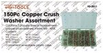 Copper Crush Washer Assortment 150pc