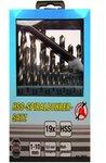 19-piece Twist Drill Set, HSS, 1-10 mm