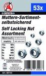 53-piece Nut Assortment, Self-Locking