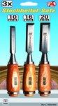 3-piece Firmer Chisel Set 10-16-20 mm
