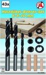 43-piece Wooden Dowel / Drill Set