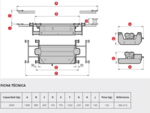 Air Operated Hydraulic Jacking Beam 2 Ton