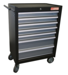 Workshop trolley 7 drawers with 129 tools