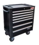 Workshop Trolley 7 drawers extra low total height with 209 tools
