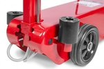 Hydropneumatic roller jack with capacity 50 tons.