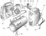 Oil-free compressor 8 bar - 6 liters, 385x170x465mm
