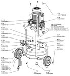 Mobile construction compressor hds bx 10 bar, 24 liters