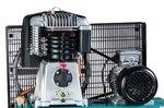 Stationary, horizontal compressor - 4kw - 10 bar - 270 l - 520 l/min