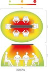 Infrared radiant heater without light hot-top 3200W