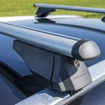 Roof rail bars for closed roof rails 120cm aluminium 75kg