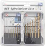 HSS Drills Set titanium nitrated 1.5 - 10 mm 15 pcs.