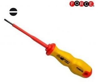 Insulated screwdriver flat