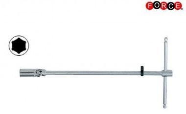 Spark plug wrench with knee joint 1/2