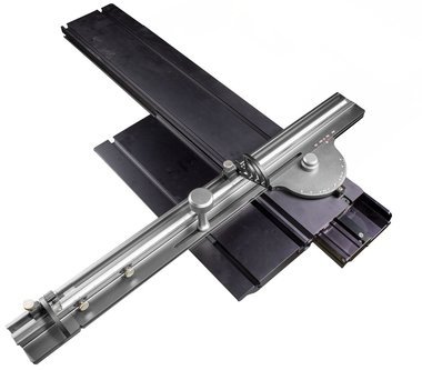 Sliding table attachment for table saw