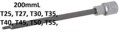 Bit Socket length 200 mm 12.5 mm (1/2) Drive T-Star (for Torx)