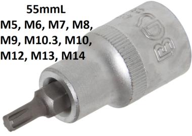 "5009 XZN 10 x 140 Special Cylinder Head Socket  1//2/"" Pro S2 Steel BGS"