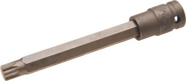 Impact Bit Socket length 140mm (1/2) Drive Spline (for XZN) M12