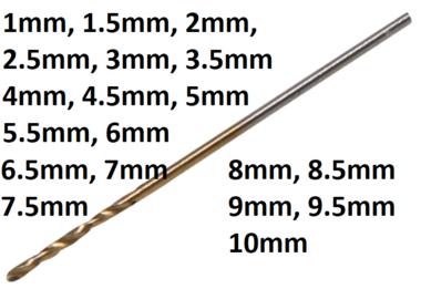 Twist Drill HSS-G titanium-nitrated