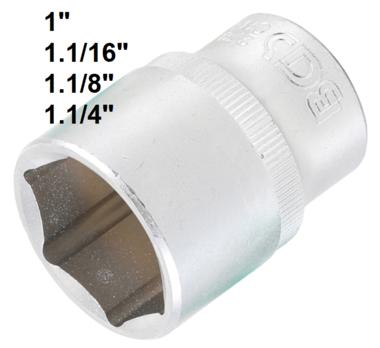 Socket, Hexagon 12.5 mm (1/2) drive