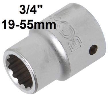 Socket, 12-point (3/4) Drive 19-55mm