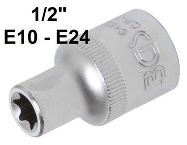 Socket, E-Type (1/2) Drive E10-E24