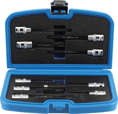 Bit Socket / Socket Set   for cylinder Head screws   12.5 mm (1/2) drive   9 pcs.