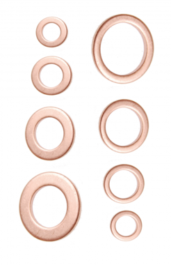 Seal Ring Assortment copper 150 pcs.