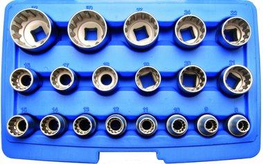 Socket Set, Gear Lock 12.5 mm (1/2) drive 19 pcs