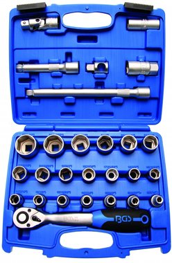 Socket Set 12.5 mm (1/2) drive 8 - 32 mm 27 pcs