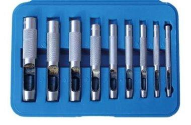 9-piece Hollow Punch Set, 3-12 mm