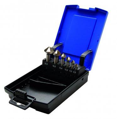 6-piece Tapered Countersink Set, HSS, DIN 335 Form C