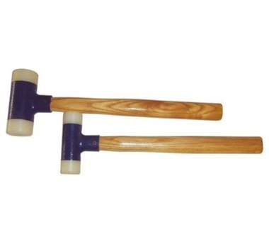 2-piece Nylon Mallet Set with Hickory Handle