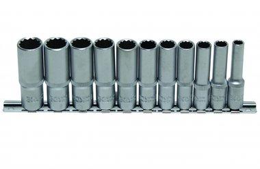 11-piece Deep Socket Set, 12-pt., 3/8