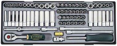1/4 Socket combination set MM & SAE 65pc