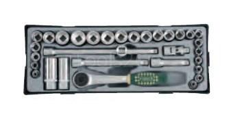 3/8 Socket set (MM & SAE) 32pc