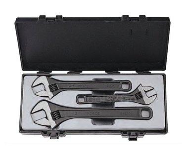 Adjustable gauged wrench set 3pc