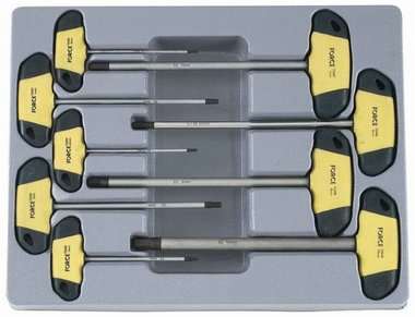 Hex screwdriver T handle set 9pc