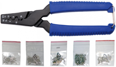 Crimping Tool for Cable End Sleeves, incl. 150 Sleeves